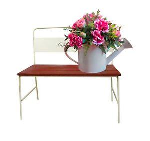 Petit Décoratif Cache Pot Support Fleur étagère Banc De Jardin Décor