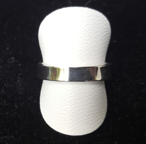 Silver Plain Wedding Band Real 925 Sterling Silver Ring 101C2
