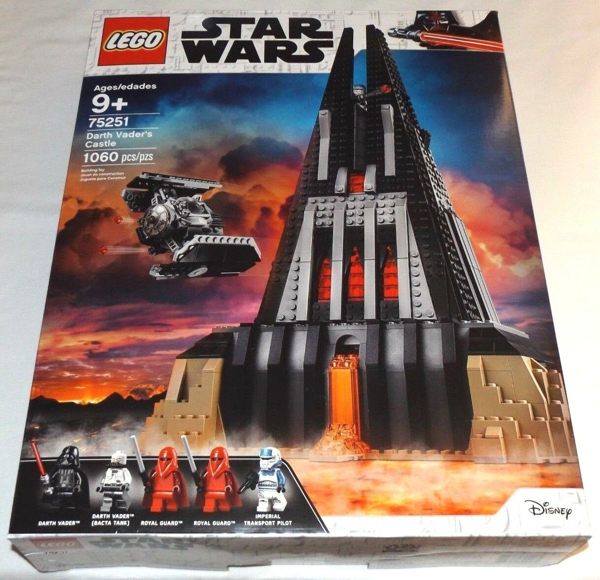 LEGO estrella guerras 75251  Darth Vader's Castle TIE Advanced combatiente Royal Guards  varie dimensioni