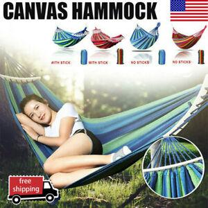Premium Garden Camping Hammock 2 Person Double Hanging Bed Outdoor Travel Swing