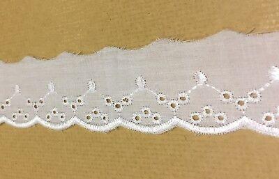 COTTON CROCHET LACE TRIM white ivory ecru cream VINTAGE 11-45mm 1-5m WEDDING UK