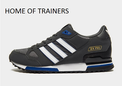 Adidas Originaux Zx 750 Gris Blanc Bleu HOMME Baskets Toutes