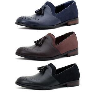 be860bebd6b70 Mens Smart Slip On Designer Faux Leather Tassel Loafers Casual ...