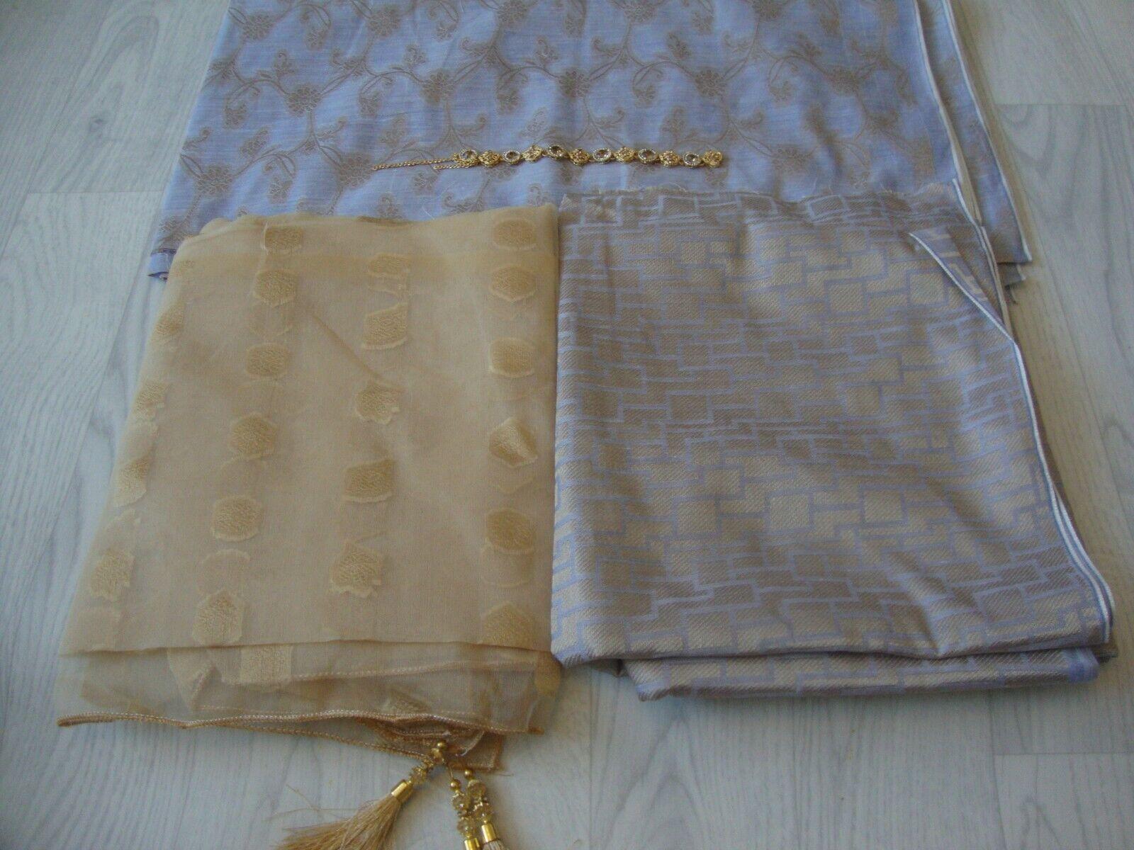New Jacquard Banarsi Lawn Suit Unstitched Salwar Kameez Pakistani SALE