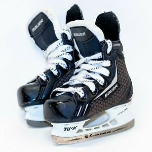 BAUER-Supreme-Light-Speed-Pro-Tuuk-One-4-Black-Hockey-Ice-Skates-Youth-Size-8-US