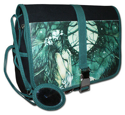 Victoria Frances Horizonte Moon Forest Gothic Girl Cosmetic Green Hand Bag