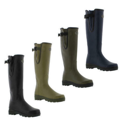 Le Chameau Wellingtons Boots Womens Vierzon Jersey Black Green Wellies Size  4-7