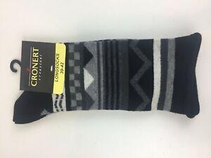 NEU-Croenert-Socken-schwarz-grau-mit-weichem-Abschluss