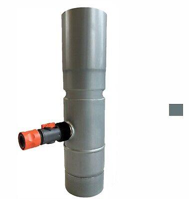 Schlussverkauf Regensammler Rheinzink Fallrohr 100/80mm Zink Graublau Mit Gardena Ans.