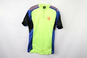 Descente-Mens-Medium-Spell-Out-Athletic-Cycling-Bicycle-Racing-Jersey-Volt