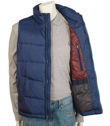 Tommy Hilfiger Men/'s Puffer Blue Olive Warm Vest Jacket Classic Fit 154AN791