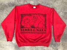 Vintage 90s Disney LION KING Simba And Nala Sweatshirt Crewneck Jumper XL 80s