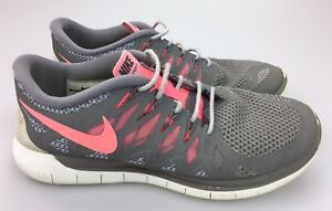 pretty nice fa63c c6646 Details about Nike Free 5.0 Running Shoes Women's Sz 8.5 US Gray Pink White  Sneaker 642199-200
