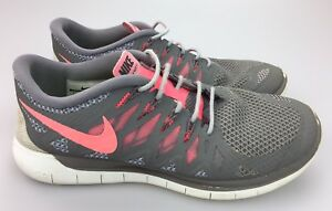 pretty nice 21a3f 971cc Details about Nike Free 5.0 Running Shoes Women's Sz 8.5 US Gray Pink White  Sneaker 642199-200