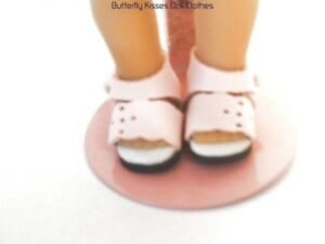 Pink-Flower-Sandals-6-in-Doll-Clothes-For-Mini-American-Girl-Dolls-amp-Riley