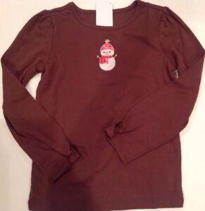 Gymboree WINTER CHEER Brown Gingerbread Castle Long Sleeve Top Shirt NWT 5 6 7