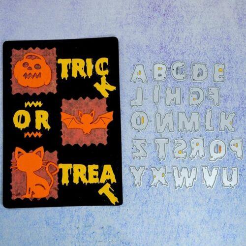 Halloween Alphabet Letter Dies Metal Cutting Dies Scrap-booking For Card Making