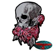 Livello di cessione bassissimo ROSES SKULL PATCH RICAMATE aufbügler Biker ROSE Dead HARLEY USA TWIN