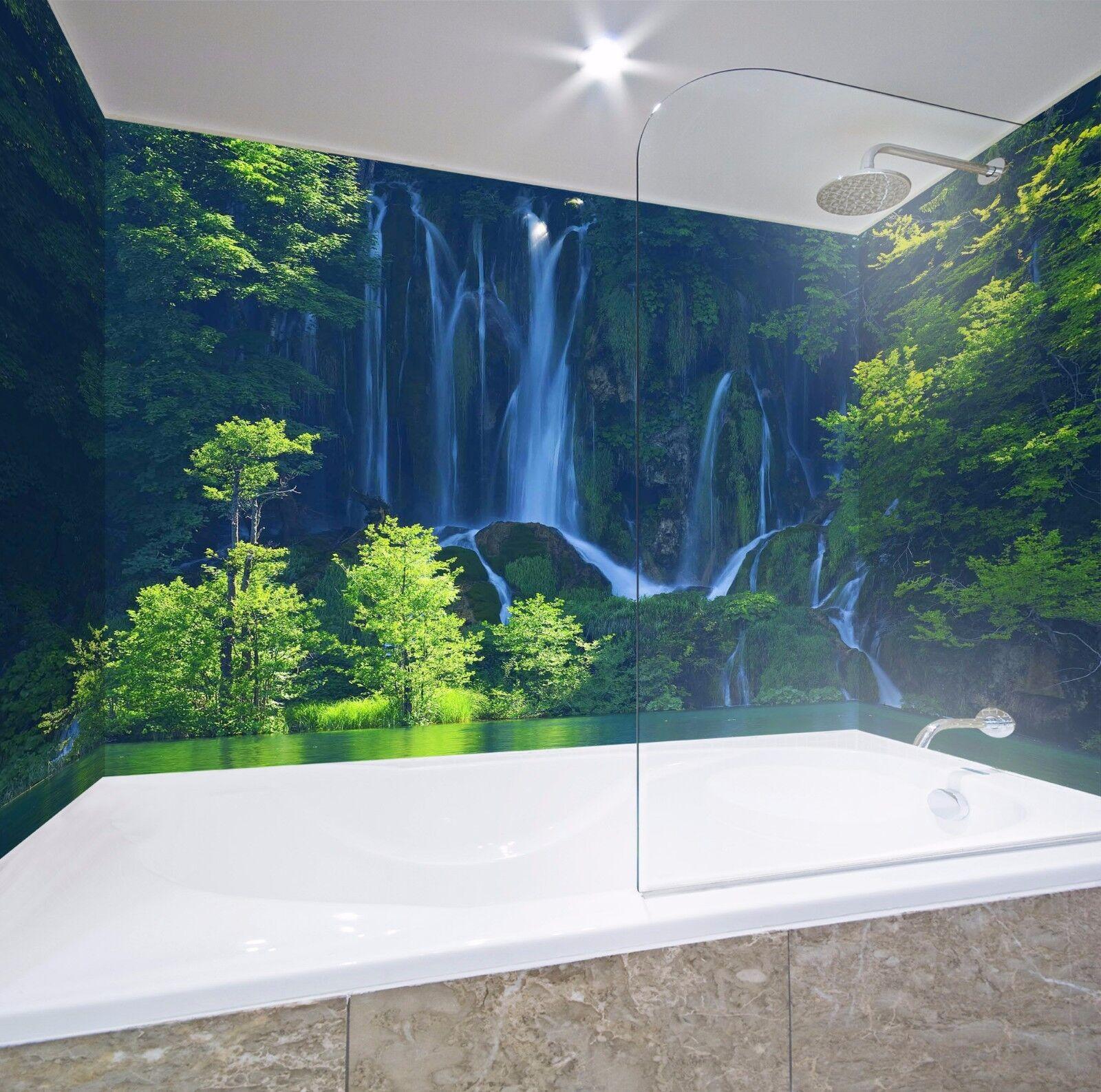 3D Waterfal 749  WallPaper Bathroom Print Decal Wall Deco AJ WALLPAPER AU