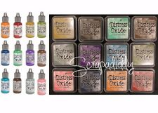 Ranger Tim Holtz DISTRESS OXIDE Ink Pads & Reinkers- ALL 12 Colors Set IN STOCK