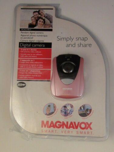 Magnavox Simply Snap & Share Pendant Digital Camera MIC4012XB/27 - Pink