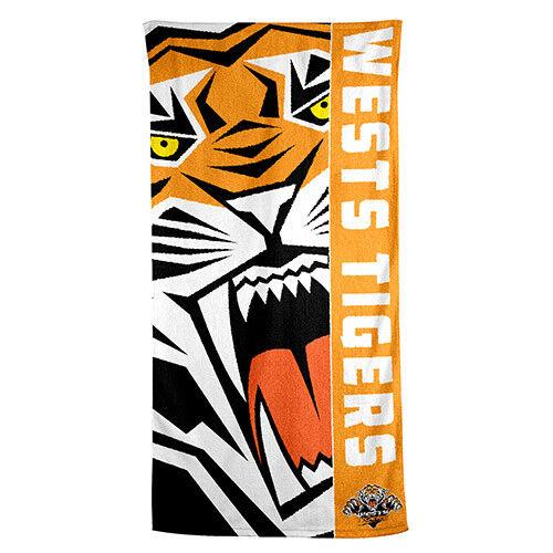 Wests Tigers NRL Beach Bath Gym Towel Christmas Birthday Fathers Day Gift