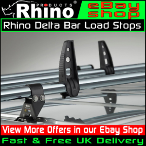 Citroen-Dispatch-Roof-Rack-Bars-Van-Rhino-Delta-Bar-Load-Stops-2-Pairs-1995-2007