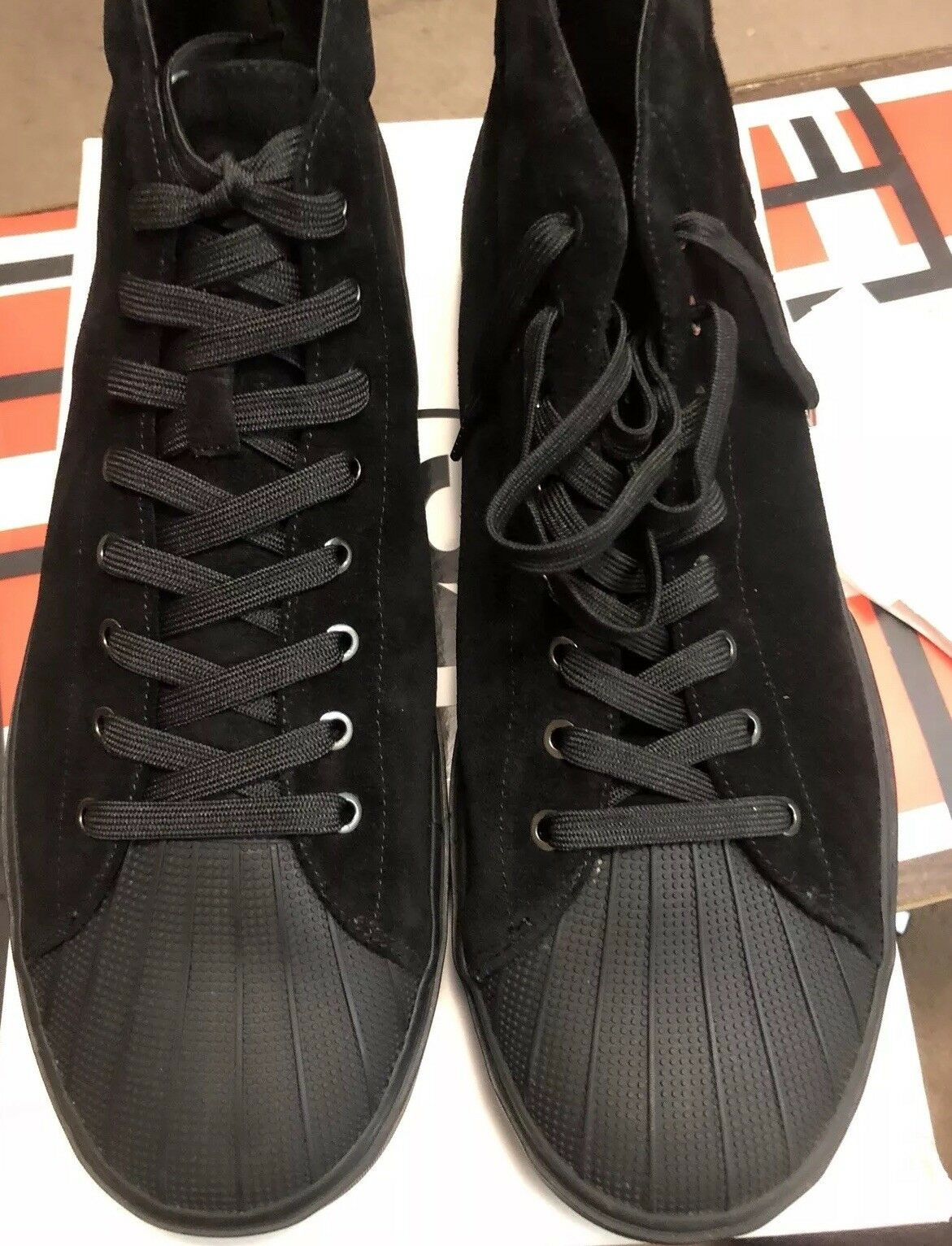 NEW   255 PSby Paul Smith Hightop Sneakers Black Suede