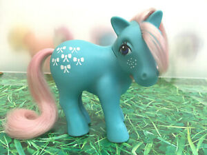 My-Little-Pony-G1-Bow-Tie-Shy-Pose-Vintage-Toy-Hasbro-1983-Collectibles-MLP