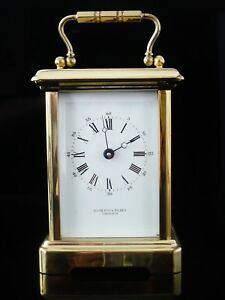 Bornand-Freres-Brass-Carriage-Clock-for-Hamilton-amp-Inches-Fully-Operational