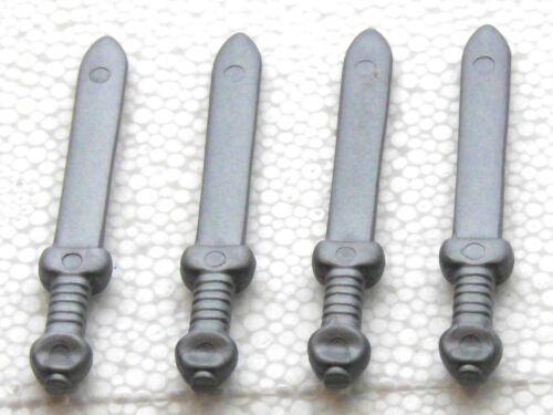 4 X Romains épée Gladius argent Playmobil à Arena armes tribun Légionnaire 1910