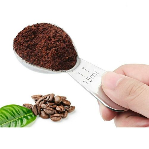 15//30ml Coffee Scoop Spoon Stainless Steel Metal Measuring Tea Sugar Tablespoon