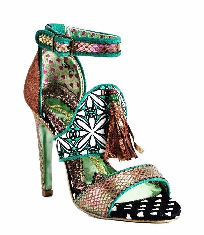 acquista marca Irregular Choice Typhoon High Heel Sandals Copper Copper Copper verde Multi Pick A Dimensione  si affrettò a vedere