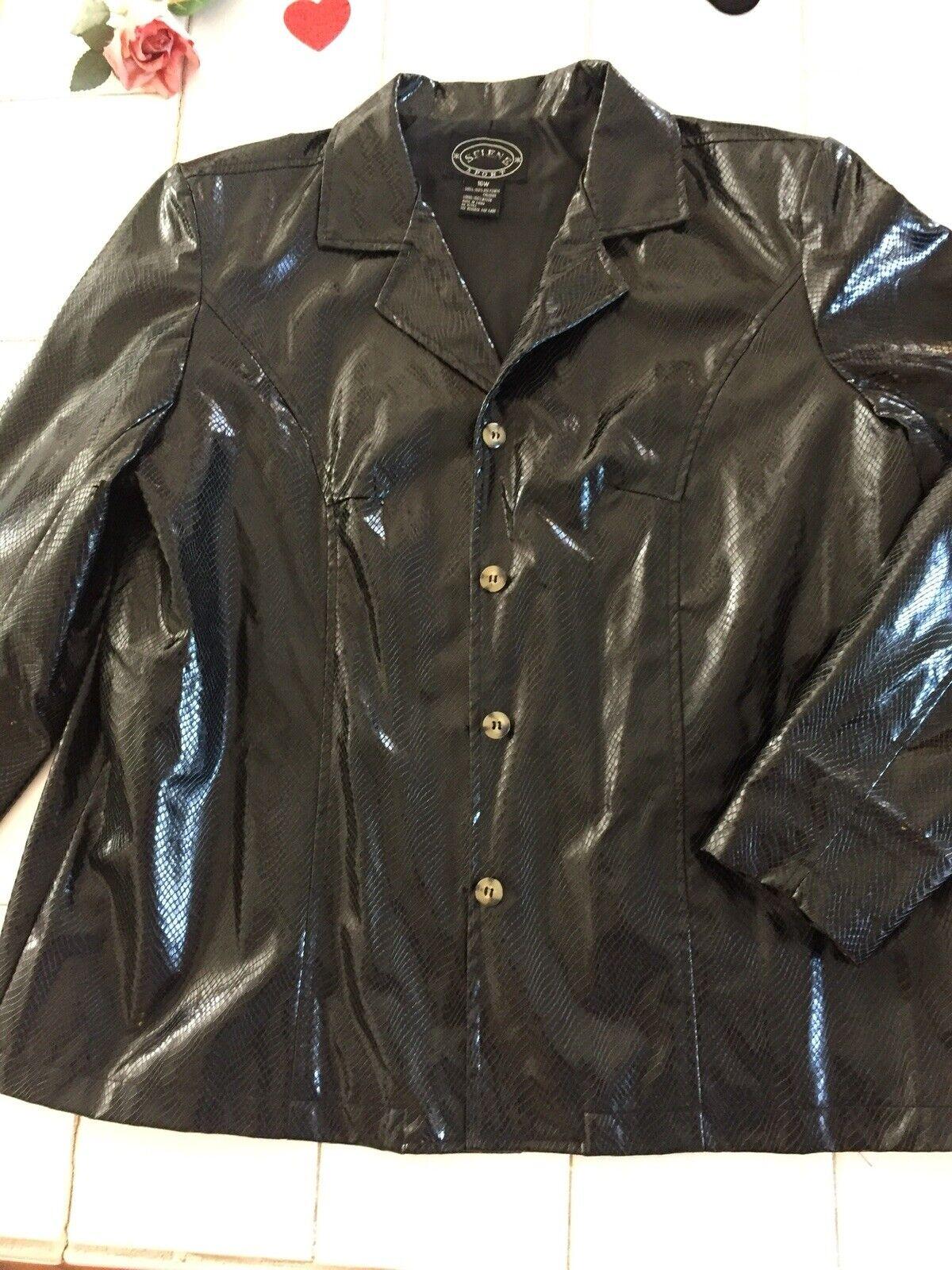 VINTAGE Selene Sport Faux  Snakeskin Jacket Coat … - image 1