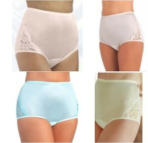 NWT-panties-Vanity-Fair-Perfectly-Yours-LACE-NOUVEAU-nylon-Briefs-SIZES-6-12