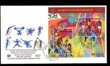 United Nations Geneva 1996 Sport M/S FDC #C8352