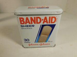 Johnson-amp-Johnson-EMPTY-Band-Aid-Metal-Tin-FREE-SHIPPING