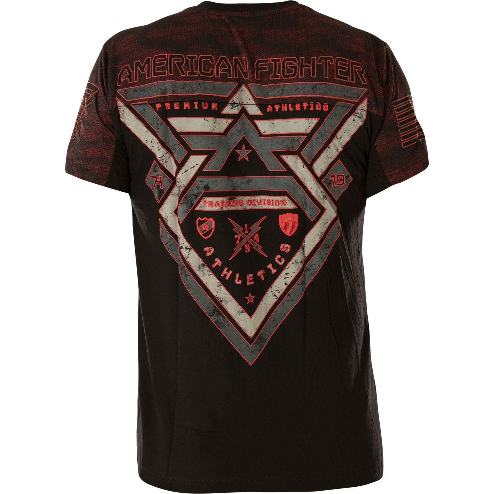 American American American Fighter Affliction T-shirt Lake Hurst ROSSO NERO T-shirts 9212ea