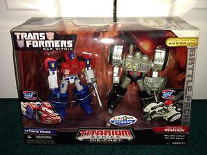Pack de 2 jouets Optimus Prime Megatron