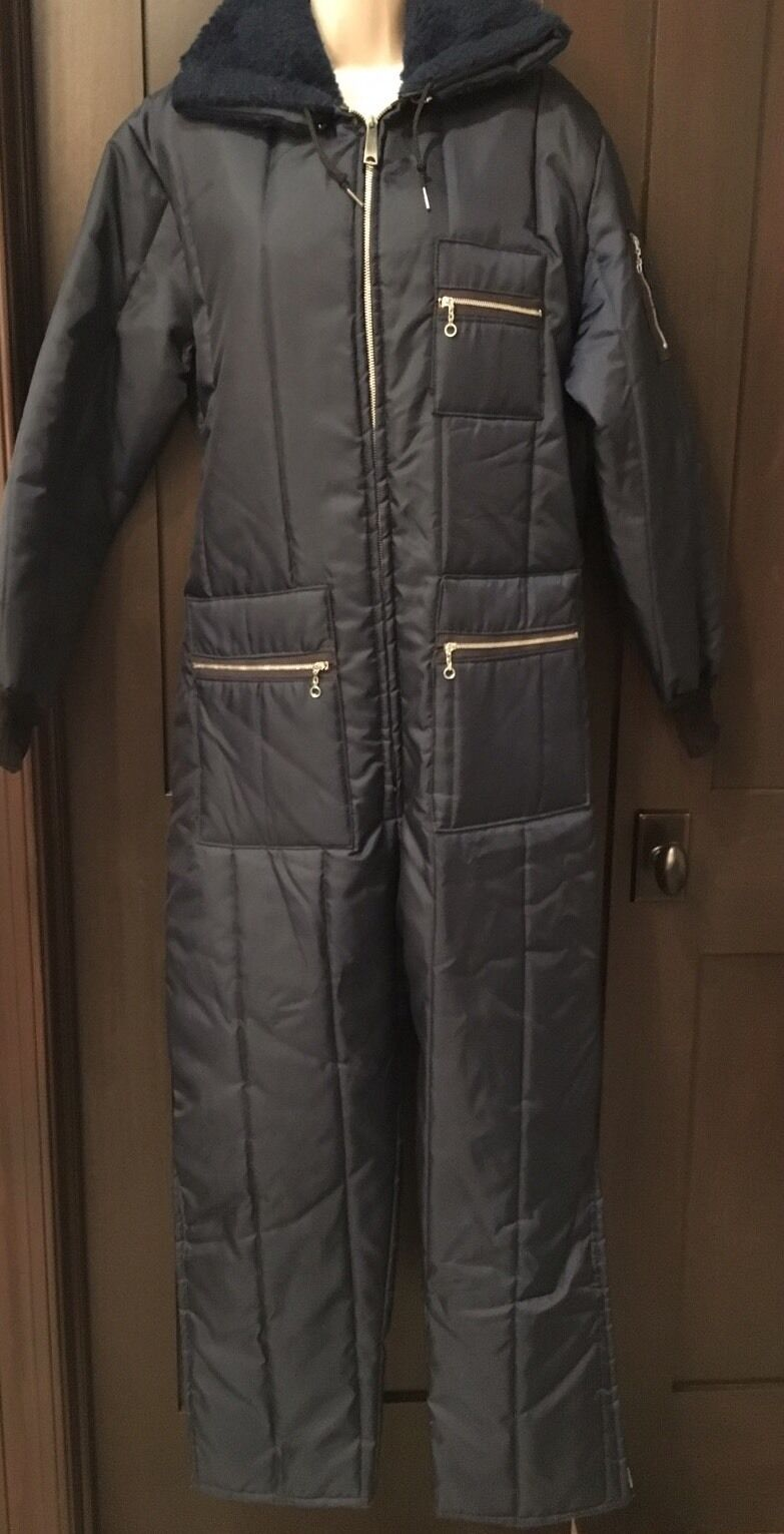 Vintage Snowmobile Navy Full Body  Suit Mens Medium Dacron Hollofil Rare  best quality best price