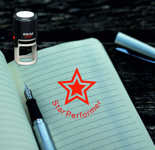 Star Performer Round Stamp,Teachers Stamp,School Grading Teacher self ink stamp