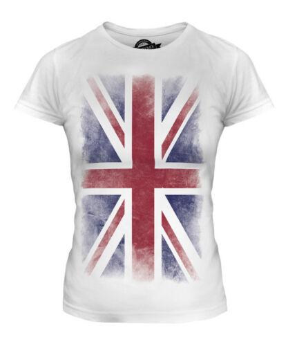UNION JACK FADED FLAG LADIES T-SHIRT TEE TOP UK GB GREAT BRITAIN UNITED KINGDOM