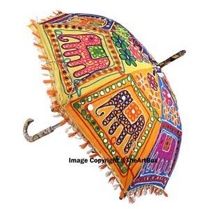 bf1194c3004db Image is loading Indian-Traditional-Elephant-Printed-Rajasthani-Cotton-Sun- Umbrella-