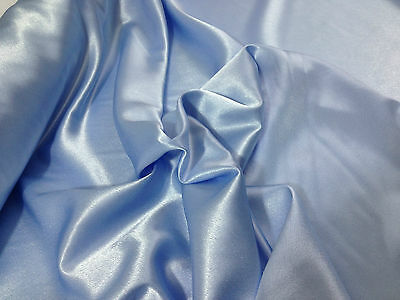"Soft Crepe Back Satin Pastel Colours 45"" Wide Dress/Crafts Fabric*FREE POSTAGE*"