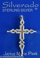 Old Spanish Cross 925 Solid Sterling Silver Charm Pendant 1932