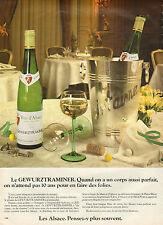 Publicité Advertising 1981 GEWURZTRAMINER vin blanc d'Alsace