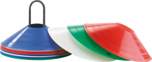 5 coloris 25 cônes de marquage avec supports Pearl Sports