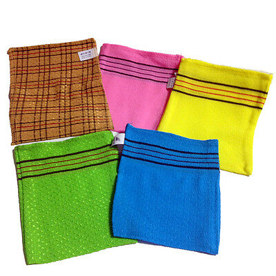 5p SET glove-type Korea body clean italy Towel body massage Scrubber wash cloth