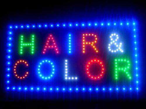 """60027 Hair /& Color Beauty Salon Style LED Sign 24/""""x 12/"""""""