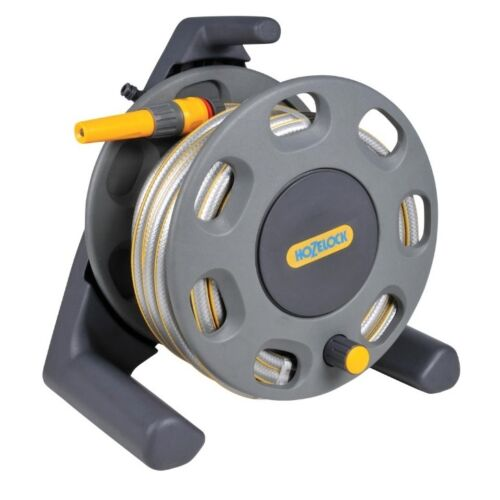 NEW MULTI PURPOSE HOZELOCK 25M HOSE /& REEL GARDEN WATERING EQUIPMENT 2412